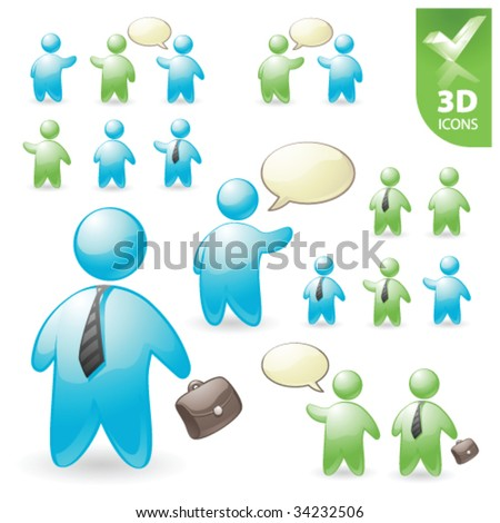 3d Human Icon Vector People Vector 3d Icon Set