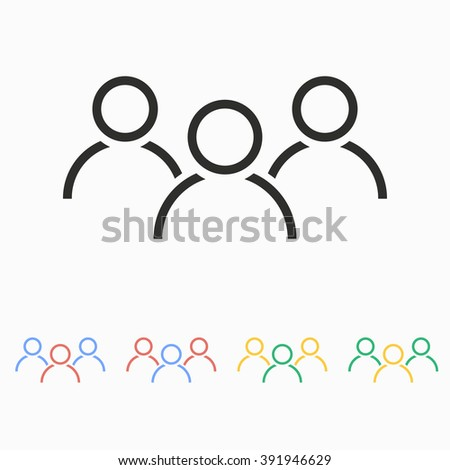 People  vector icon. Illustration isolated on white  background for graphic and web design. - stock vector