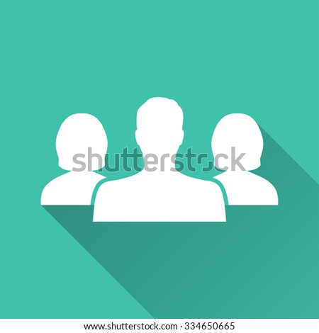 People  - vector icon in white on a green background. - stock vector