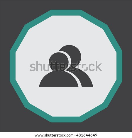 People vector icon. Two guys sign. Business symbol