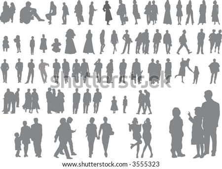 people vector set - stock vector