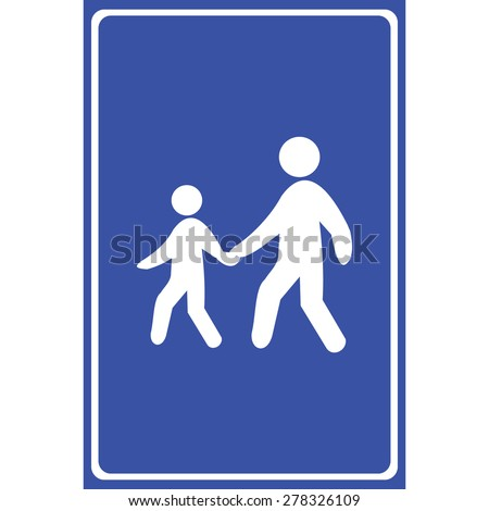 People walking icon great for any use. Vector EPS10. - stock vector