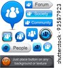 People web blue buttons for website or app. Vector eps10. - stock photo