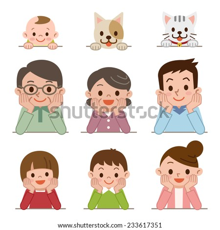 People who lie flat - stock vector