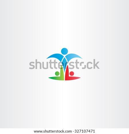people winner man champion logo icon vector success - stock vector