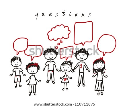 people with balloons text over white background. vector illustration - stock vector