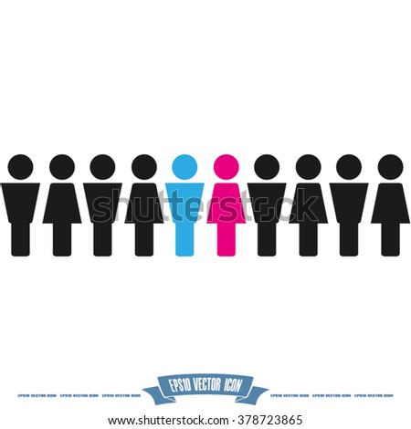 people woman man - stock vector