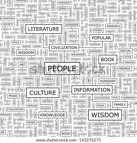 PEOPLE. Word cloud concept illustration.  - stock vector