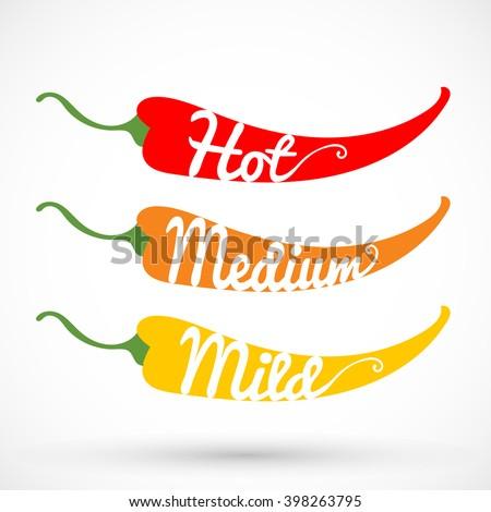Pepper chilli vector illustration - stock vector