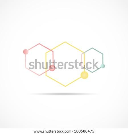 Peptide Chain Illustration - stock vector