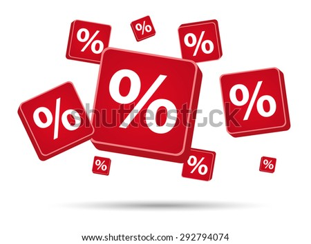 Per Cent Signs Red Color Stock Vector 292794074 Shutterstock