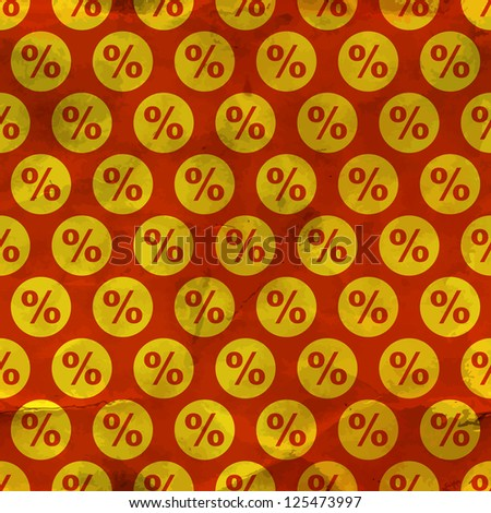 Percent. Seamless pattern.
