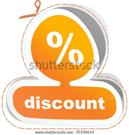 Percent. Sticker for sale. Vector illustration. - stock vector