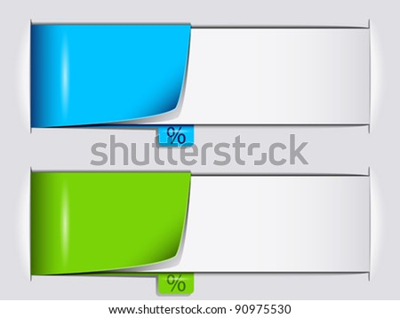 Percentage banners - stock vector