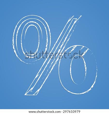 Percentage icon. Percentage icon vector. Percentage icon simple. Percentage icon app. Percentage icon web. Percentage icon logo. Percentage icon sign. Percentage icon UI. Percentage icon flat.  - stock vector