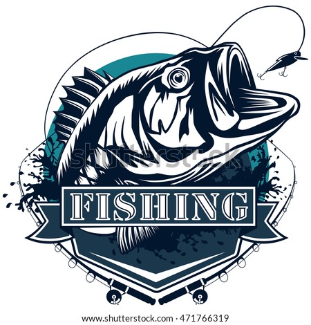 Bass fish logo images galleries with for Bass fishing logos