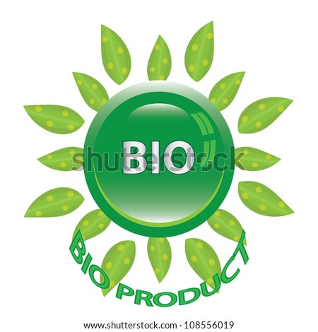 Perfect badge made for your bio products.vector