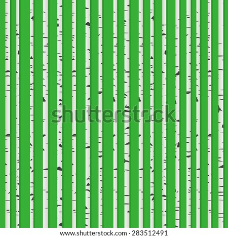 Perfect birch wood forest background, seamless pattern for web design - stock vector