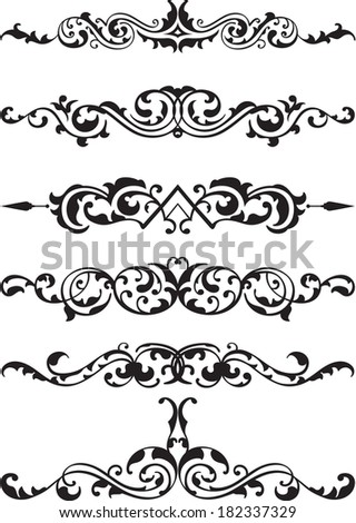 Perfect design lines on white - stock vector