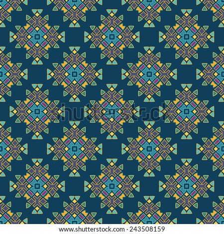 Perfect graphical seamless pattern. Geometrical texture made in vector. Unique background for invitations, cards, websites. - stock vector