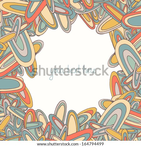 Perfect retro frame for your text with white background. Fully editable illustration drawn in vector by hand. - stock vector