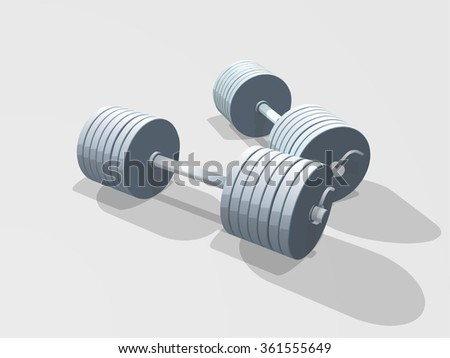 perfect vector isolated barbell