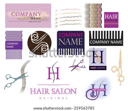 Perfect vector set of barber and haircut logos. Labels, badges and design elements