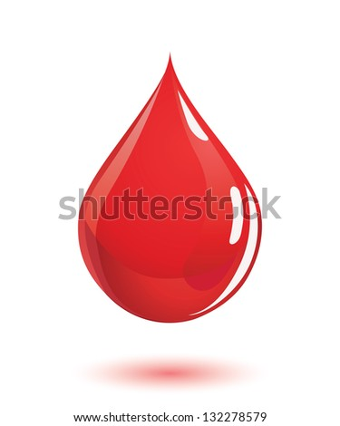 Perfectly shaped blood drop.