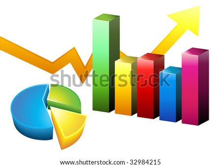 Performance Charts Isolated - stock vector