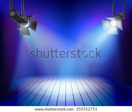 Performance in theatrical stage . Vector illustration. - stock vector