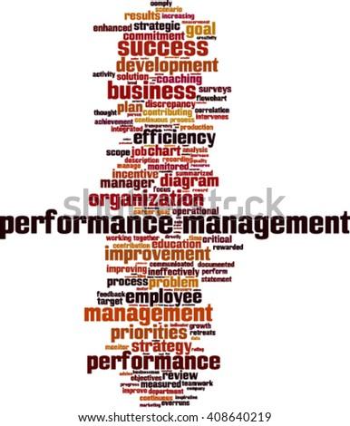 Performance management word cloud concept. Vector illustration - stock vector