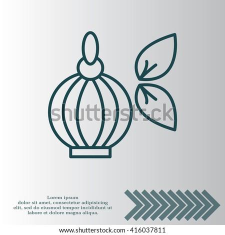 Perfume bottle vector icon - stock vector