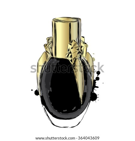 Perfume bottle vector. Trendy print. Fashion & Style.