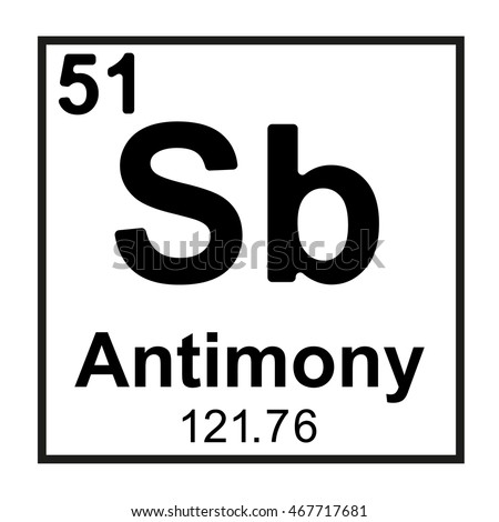 Periodic Table Element Antimony Stock Vector 467717681 Shutterstock