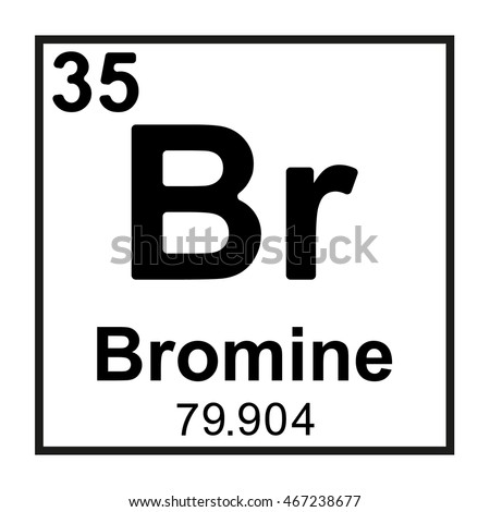 Periodic table element bromine stock vector 467238677 shutterstock periodic table element bromine urtaz Image collections