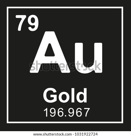 Periodic table element gold au white stock vector royalty free periodic table element gold au white vector icon on black urtaz Image collections