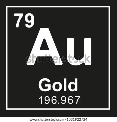 Periodic table element gold au white stock photo photo vector periodic table element gold au white vector icon on black urtaz Images