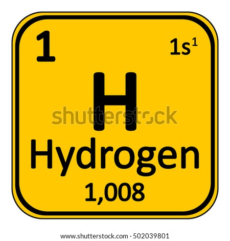 Periodic table element hydrogen icon on stock vector 502039801 periodic table element hydrogen icon on white background vector illustration urtaz Gallery