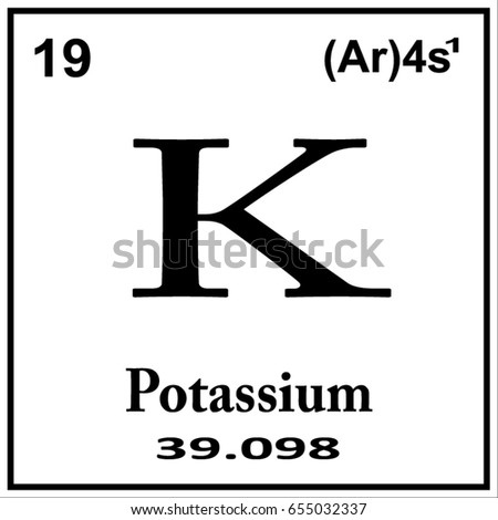 Periodic table element potassium icon on stock vector 655032337 periodic table element potassium icon on white background urtaz Images