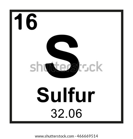 Periodic table element sulfur stock vector 466669514 shutterstock periodic table element sulfur urtaz Image collections