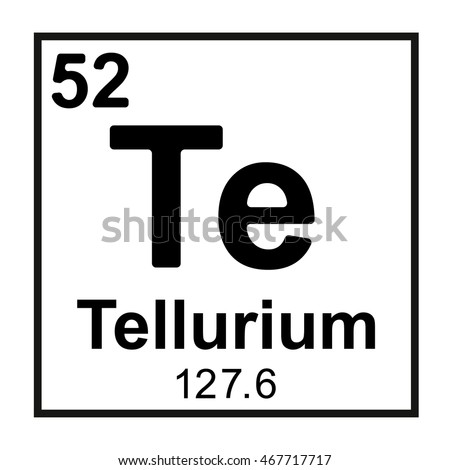 Periodic table element tellurium stock vector 467717717 for Periodic table no 52