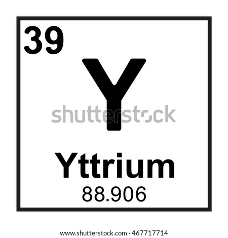 Periodic table element yttrium stock vector 467717714 shutterstock periodic table element yttrium urtaz Images