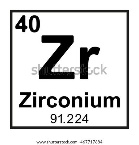 Periodic table element zirconium stock vector 467717684 shutterstock periodic table element zirconium urtaz Gallery