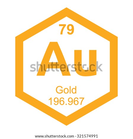 Periodic table gold element stock vector 321574991 shutterstock periodic table gold element urtaz Gallery