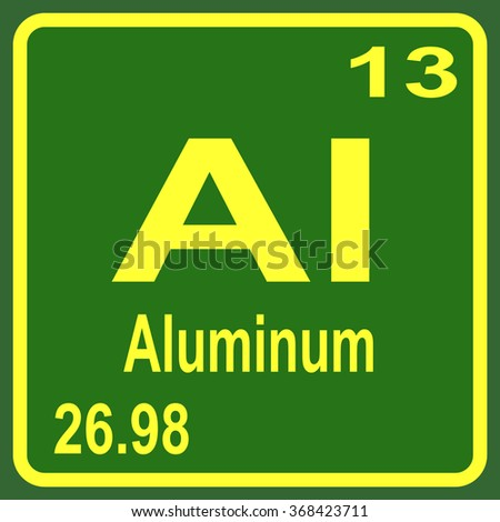 Periodic table elements aluminum stock vector 367527287 shutterstock periodic table of elements aluminum urtaz Gallery