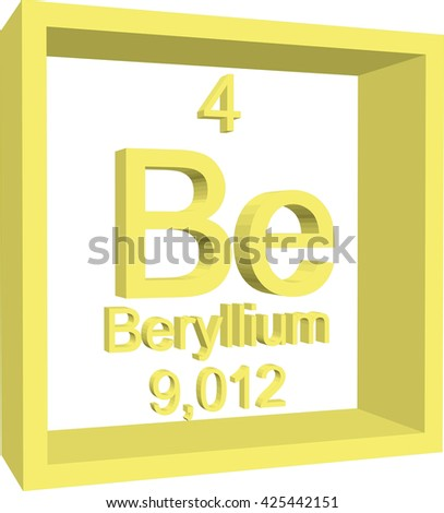 Periodic table elements beryllium stock vector 425442151 periodic table of elements beryllium urtaz Gallery