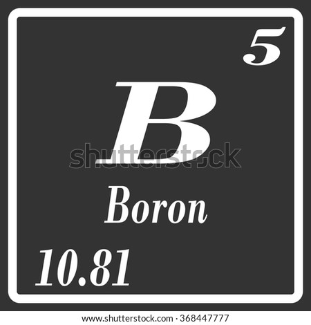 Periodic table elements boron stock vector 368447777 shutterstock periodic table of elements boron urtaz Image collections
