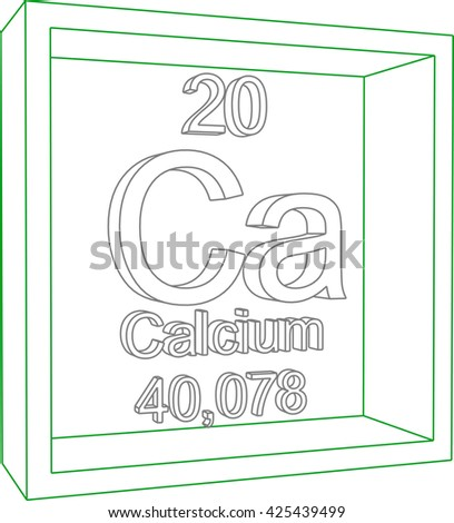 Periodic Table of Elements - Calcium - stock vector