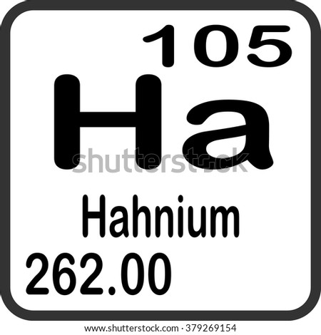 Periodic table elements hahnium stock vector 379269154 shutterstock periodic table of elements hahnium urtaz Images