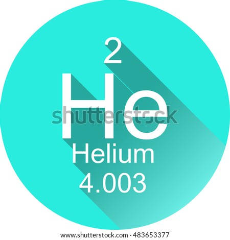 Periodic table elements helium round flat stock vector hd royalty periodic table of elements helium round flat icon with long shadow urtaz Image collections